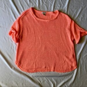 Slouchy short-sleeved sweater